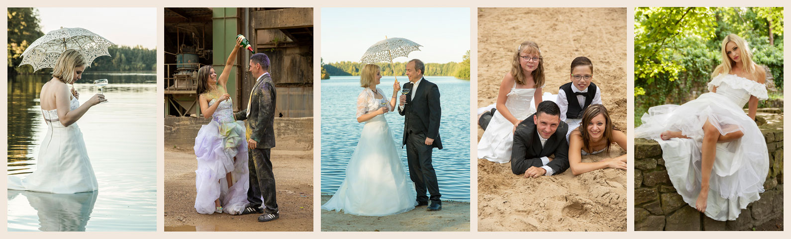 After Wedding - Trash-the-dress Shooting - Fotograf OWL - Kreis Lippe - Fotostudio Kalletal