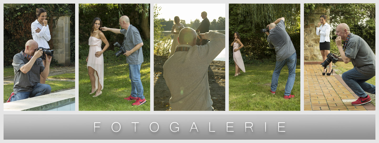 Making-of - Behind the scenes - Fotograf bei der Arbeit - After Wedding Shooting