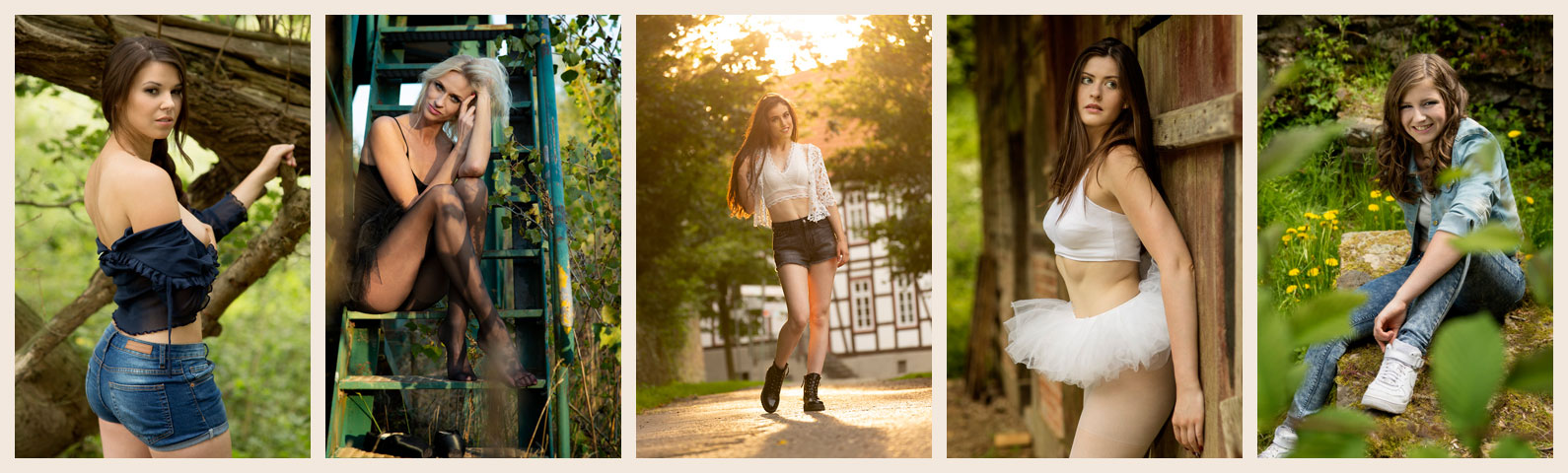 Outdoor Fotoshooting - Fotografieren im Freien - Lost Places - Available Light